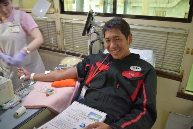 献血です!!
